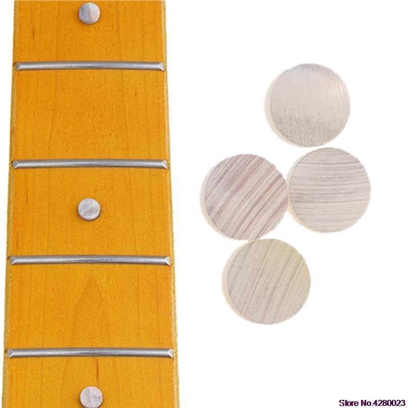 Self-Conscious 2019 New 20pcs/set Fingerboard Inlay Dot 6mmx2mm Guitar Dots White Pearl Shell Musical Instruments