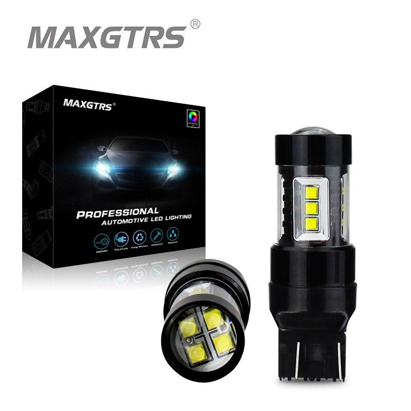 2x высокое Мощность T20 7443 W21/5 Вт 30 Вт 50 Вт 80 Вт CREE чип светодиодный лампы автомобилей стоп тормозной сигнал резервного копирования DRL огни DC12V 24 ...