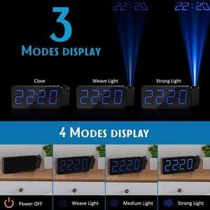 Image 3 - FM radyo çalar saat ile zaman projeksiyon sıcaklık elektronik masa saati başucu masa projektör izle nixie dijital saat