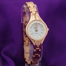 Alloy metallic bracelet band,gold plating spherical case,crystal deco,quartz motion,JW style girl girl quartz bracelet watches
