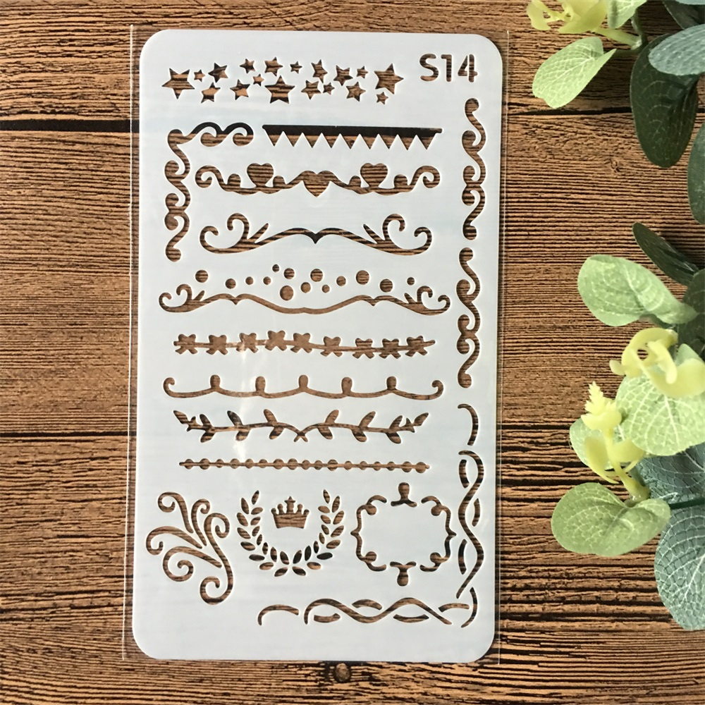 1Pcs A6 Geometry Flag S14 DIY Craft Layering Stencils Wall Painting Scrapbooking Stamping Embossing Album Paper Card Template