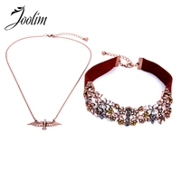 joolim-jewelry-wholesale2-pcsset-red-velvet-crystal-double-choker-necklace-pendant-set-chic-brand-jewelry-wholesale-high-end