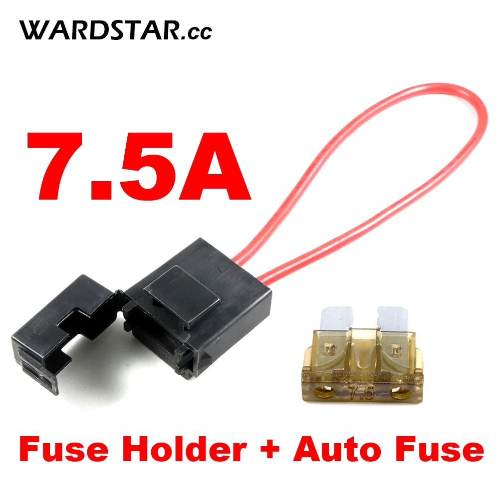 New inline standard Blade fuse holder /& x5 standard fuses car motorbike 4A Fuse