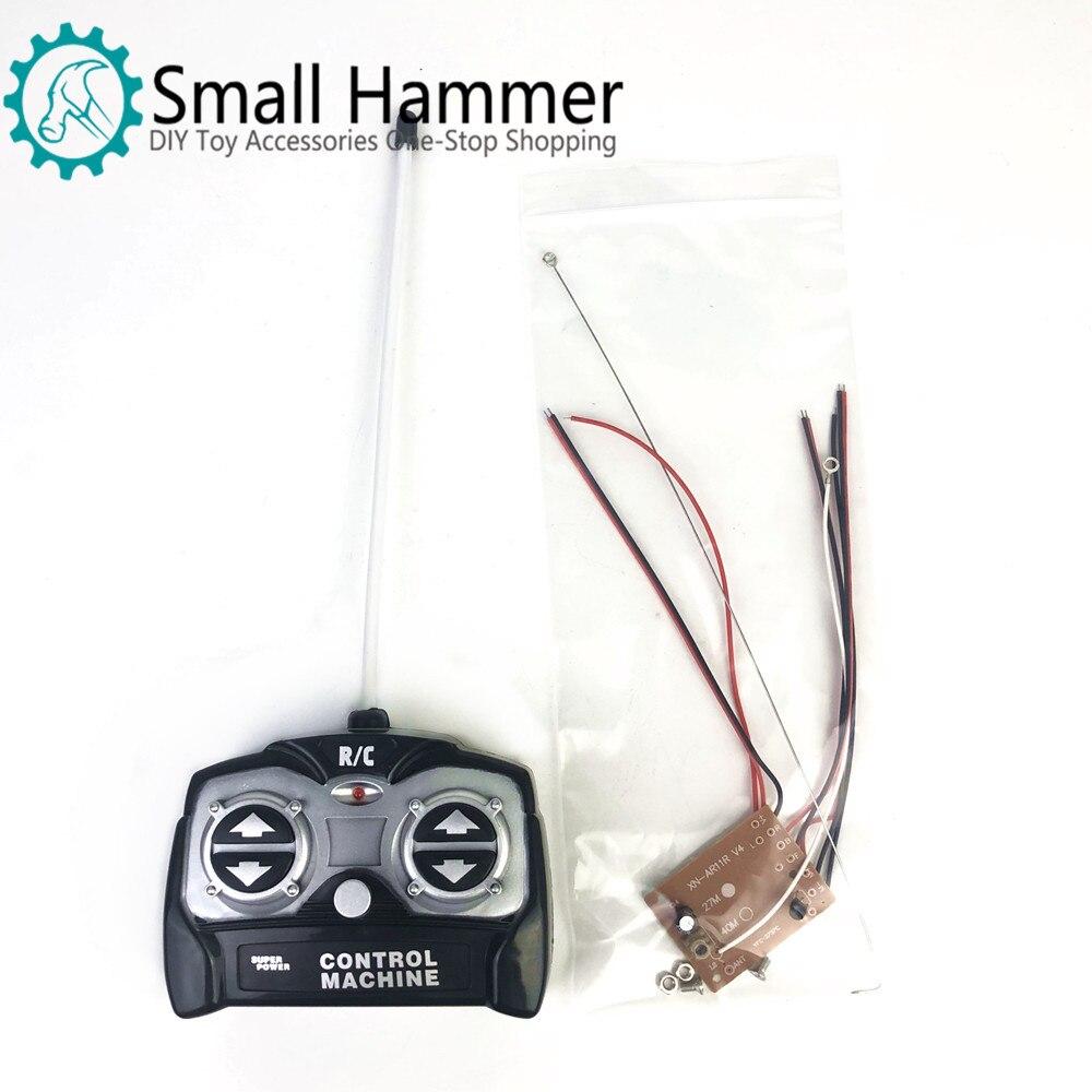 5CH 27Mhz Unidade de Controle Remoto placa do receptor + controle remoto Para O sistema de rádio de carro de brinquedo do tanque do motor para 130 6v 5v