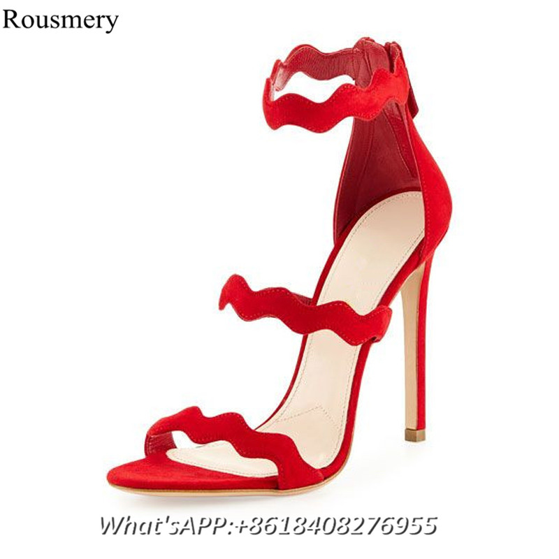 Popular Red Strappy Shoes-Buy Cheap Red Strappy Shoes lots from ...
