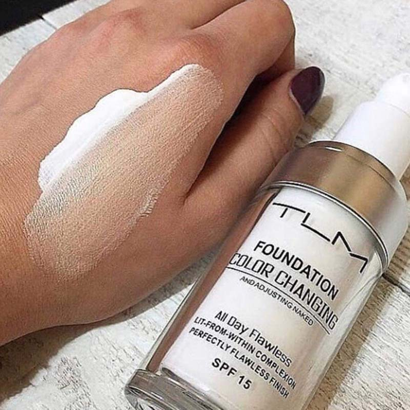 30ml Color Changing Liquid Foundation Makeup Change Foundation Oil control Makeup Change To Your Skin Tone By Just Blending in Face Foundation from Beauty Health