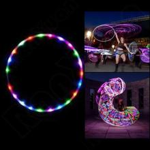 New LED Glow Hula Hoop Multicolor Hoop Toys Loose Weight Toy Kids Child Gifts
