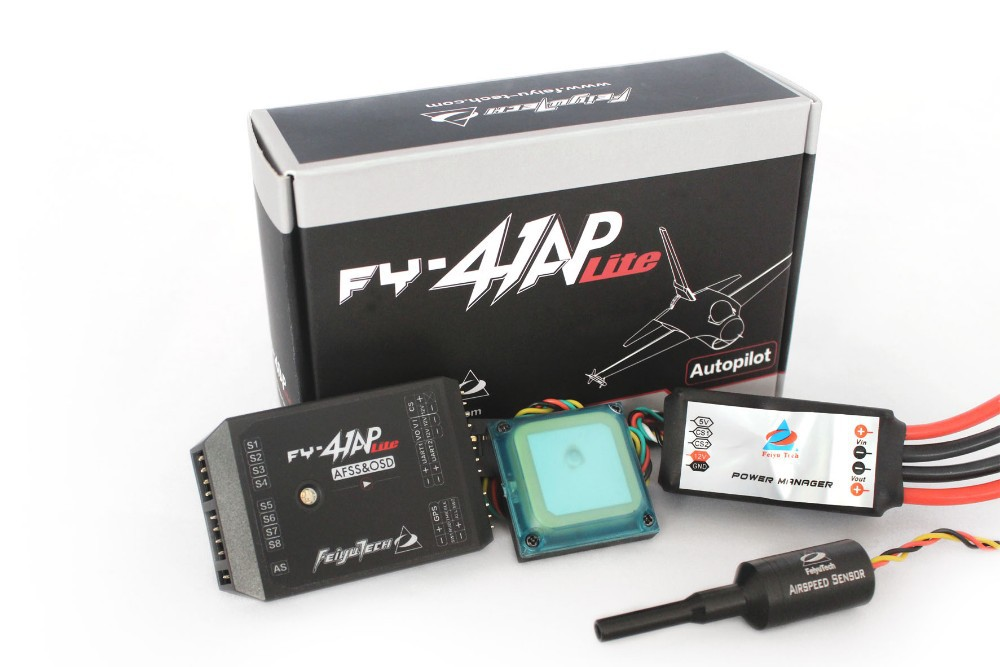 Feiyu Tech FY-41AP Lite AFSS & OSD Autopilot Flight Control System for Fixed-wing Aircrafts RTL FPV free shipping flight controll gyro 3d avcs for fixed fpv half set for eagle a3 super ii k5bo