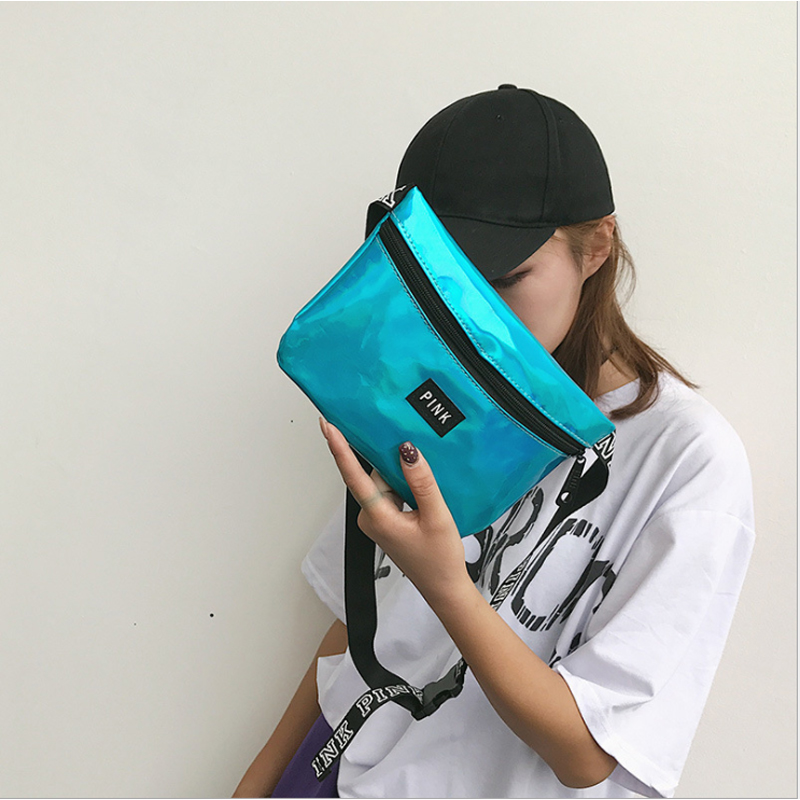 Package Female 2019 New Korean Version Of The Tide Fashion Sports Running Wild Messenger Small Pockets Ins Personality Hipster L