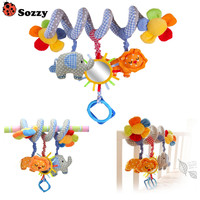 Promotion Baby Bed Hanging Lion And Elephant Baby Crib Mobile Rotating Music Cute Baby Rattles Stroller
