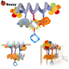 Promotion Baby Bed Hanging Lion and Elephant Baby Crib Mobile Rotating Music Cute Baby Rattles Stroller Hanging Toy Baby Gift