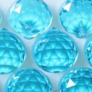 102pcs/lot 30mm aquamarine glass chandelier pandent ball for wedding garland strand free shipping