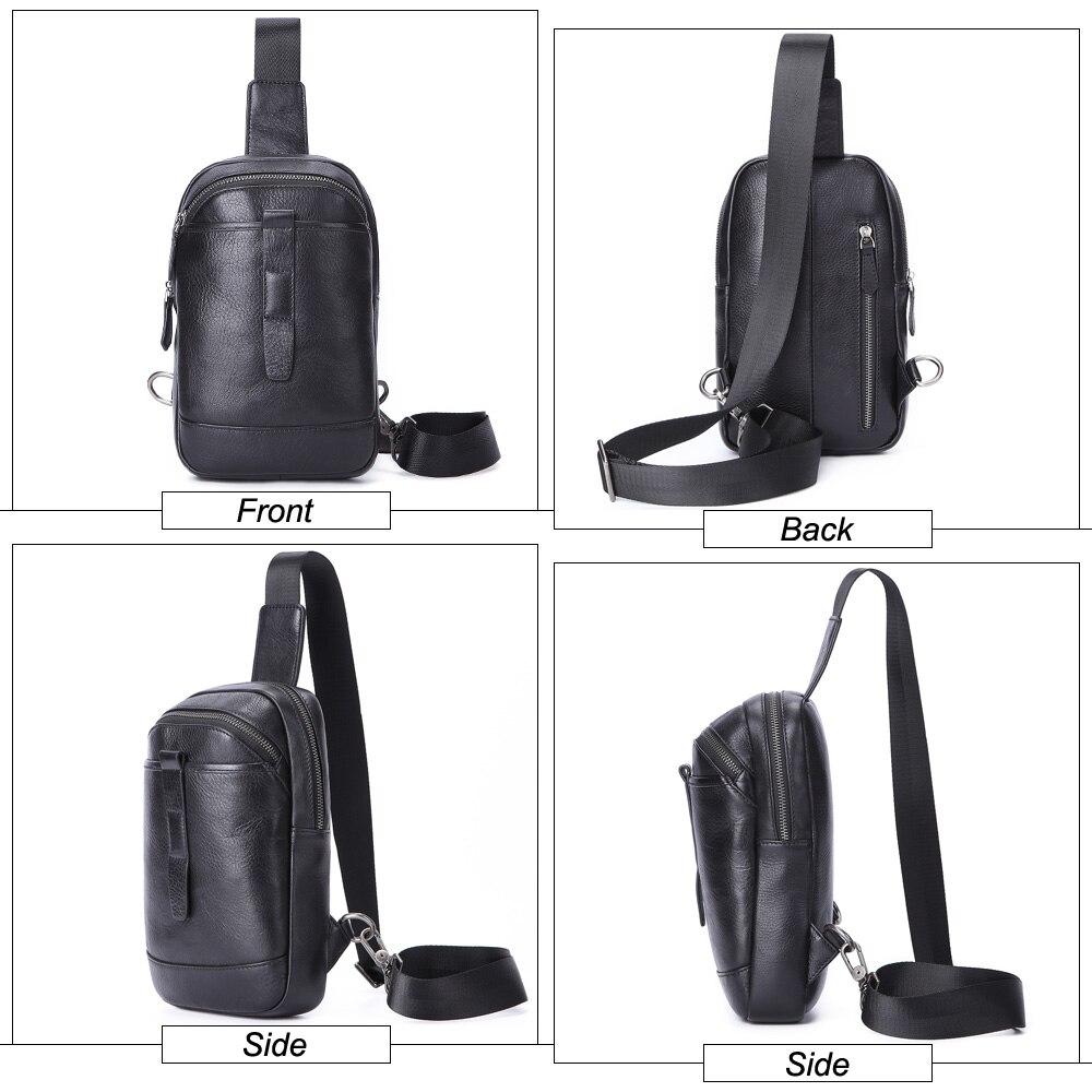 SEVENE нагрудные сумки на одно плечо сумка Повседневная Натуральная кожа сумки через плечо мужские сумки мессенджеры сумки для бега альпинистские дорожные сумки - 4