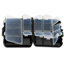 12x9x3cm/102.8g Fishing Box Hard Plastic Double Layer Small Fishing Tackle Storage Case Lure Bait Hook Accessories Box Pesca