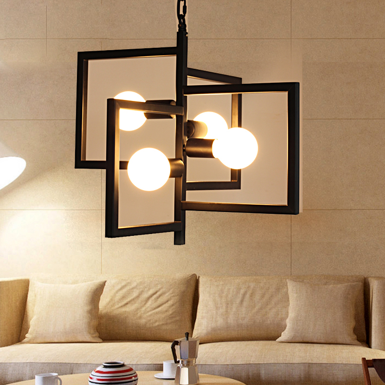 Modern Iron Pendant Lamp Vintage Chain Pendant Light Foyer/Loft/Bar/Mall/Coffee House Lighting Free Shipping - 1