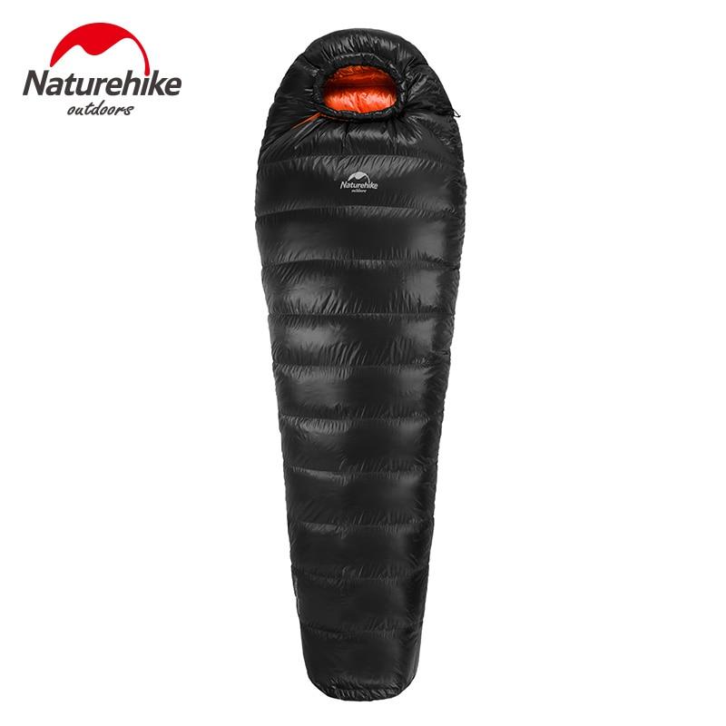 купить New Outdoor Duck Down winderSleeping Bag Mummy Sleeping Bag Winter Sleeping Bag Splicing Single Sleeping Bag NH15D800-K по цене 6731.75 рублей