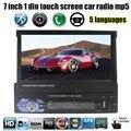 7 дюймов HD 1 din размер Многонациональных языков Автомобильный Радиоприемник 1 Din USB SD MP4 MP5 Видео Плеер Аудио Пульт Дистанционного Управления управления