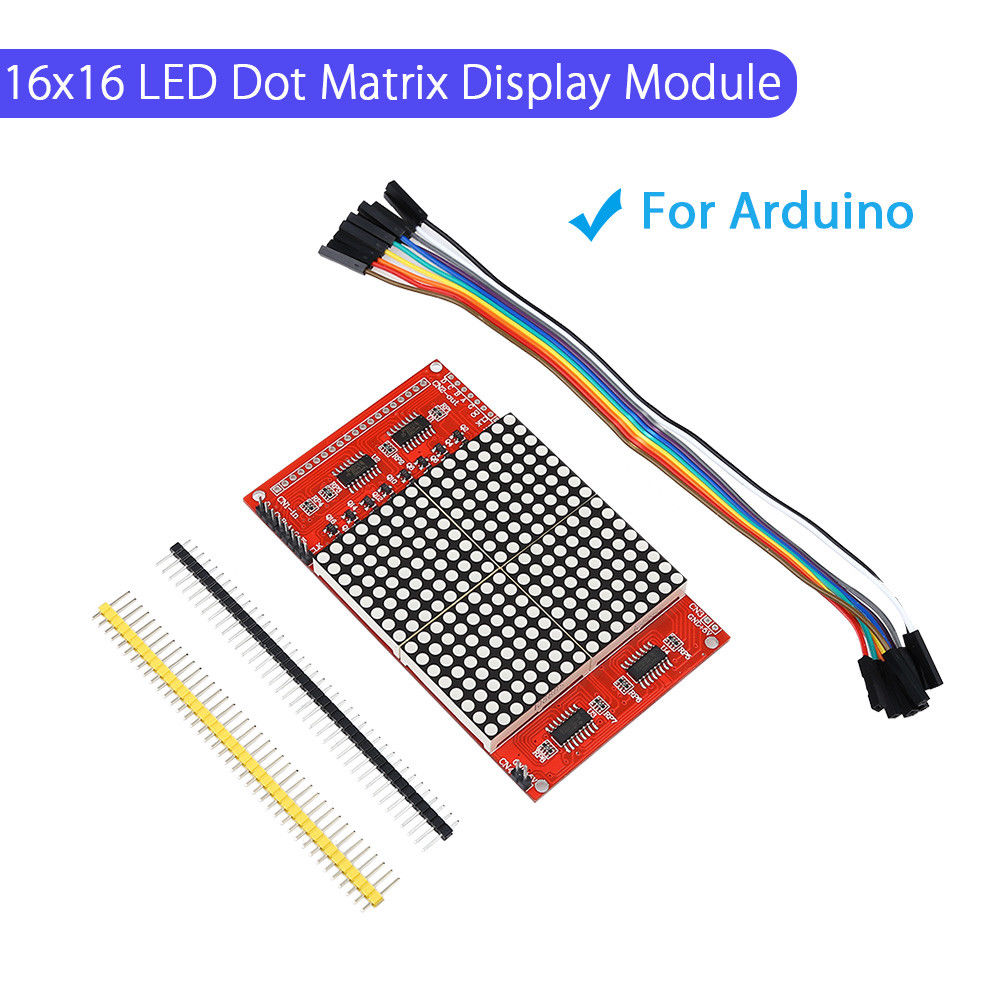 Keyes For Arduino 16x16 LED Dot Matrix Display Microcontroller Module Dupont Line Part Free Shipping