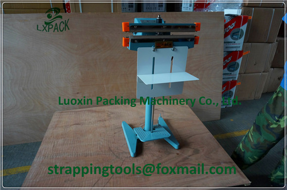 LX-PACKaluminum bags sealer pedal electrical impulse sealing machine 450mm packaging tools teflon belt heating element packer pfs 200 impulse quick rapid plastic pvc bag sealing machine sealer for food medical packaging packing manufacturing industry