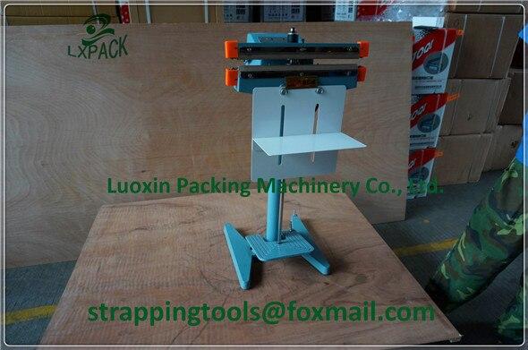 Lx-packaluminum sacs scellant pédale électrique impulsion machine d'étanchéité 450mm outils d'emballage téflon ceinture élément chauffant packer