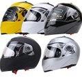 Новый Мотоциклетный Шлем Анфас Двойной Козырек Улица Велосипед с Прозрачным Экраном с ABS Материала с Горячей Давления Губка Лайнер