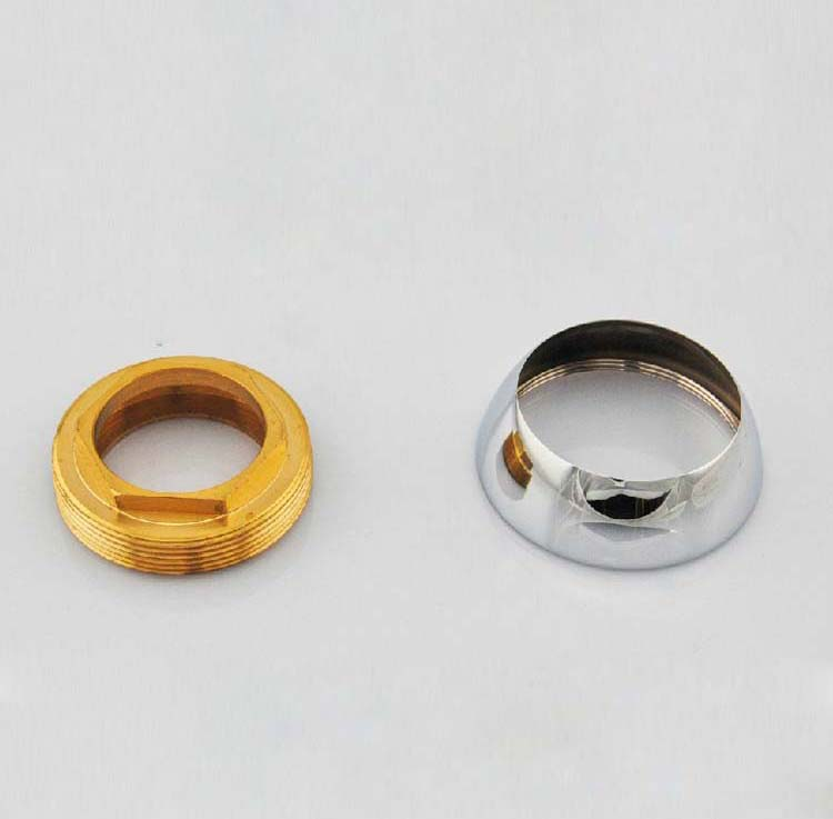 Copper Spool Gland And Decorative Cup For Faucet Cartridges