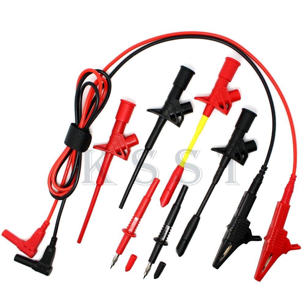DMM310 Multimeter industry test tool kids sets.Piercing Clip test line alligator clip Tip probe test probe sets