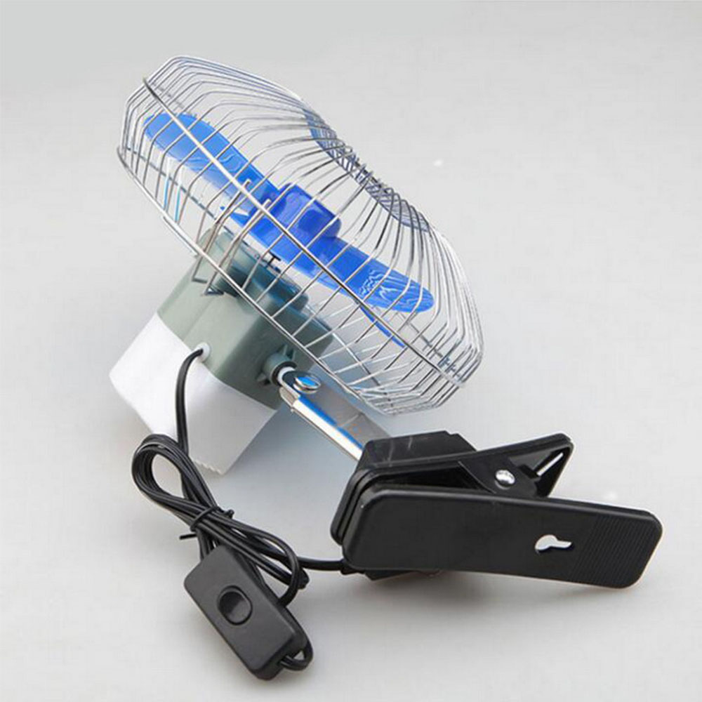 12v Portable Mini Electric Car Fan Oscillating Summer Air