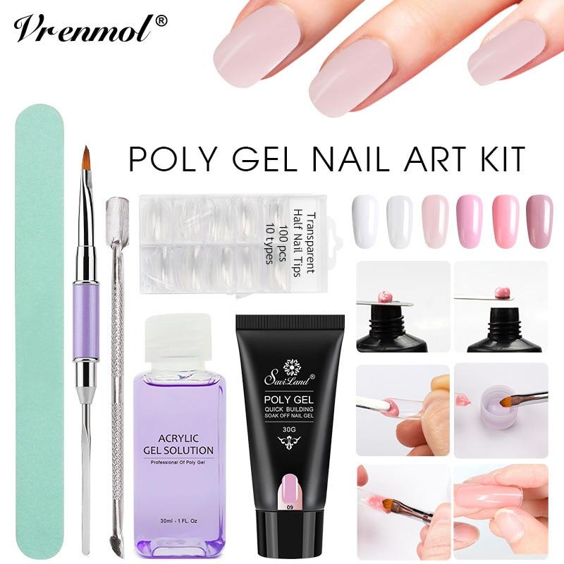 Vrenmol Polygel Set Uv Builder Gel No Burning Nail Art Cover