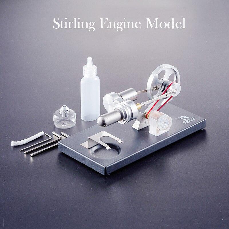 Modèle de moteur Sterling générateur de ceinture en métal nouvelle énergie cadeaux environnementaux technologie physique invention production