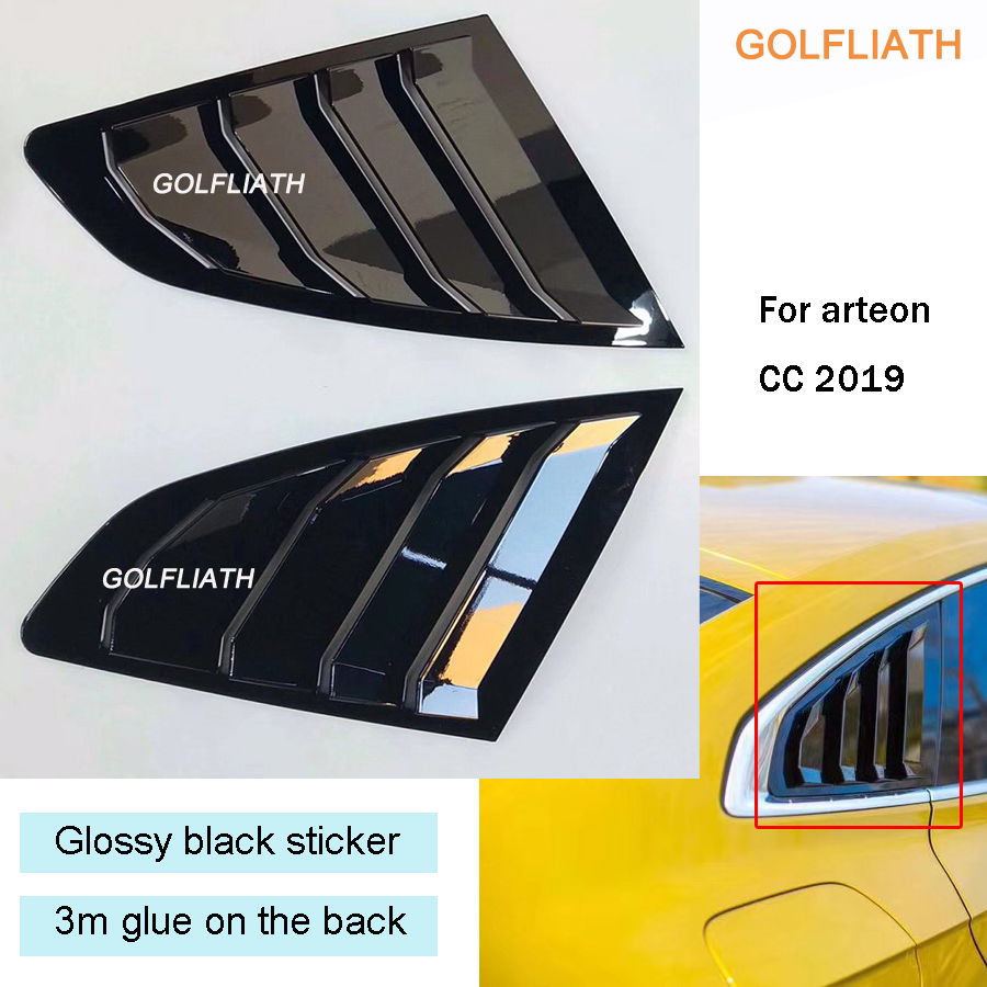 Car Sticker ABS Glossy Black On The Window For Volkswagen