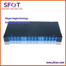 """De fibra Óptica Patch Panel, Montado En Rack Caja de Terminales, 19 """", 1U, 24 puertos, puede para LC, SC, FC, ST conectar."""