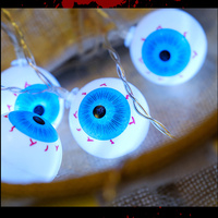 Halloween Ghost Eye Led Light AA Battery Operated Holiday Lighting Halloween Party Garland Decoration LED String