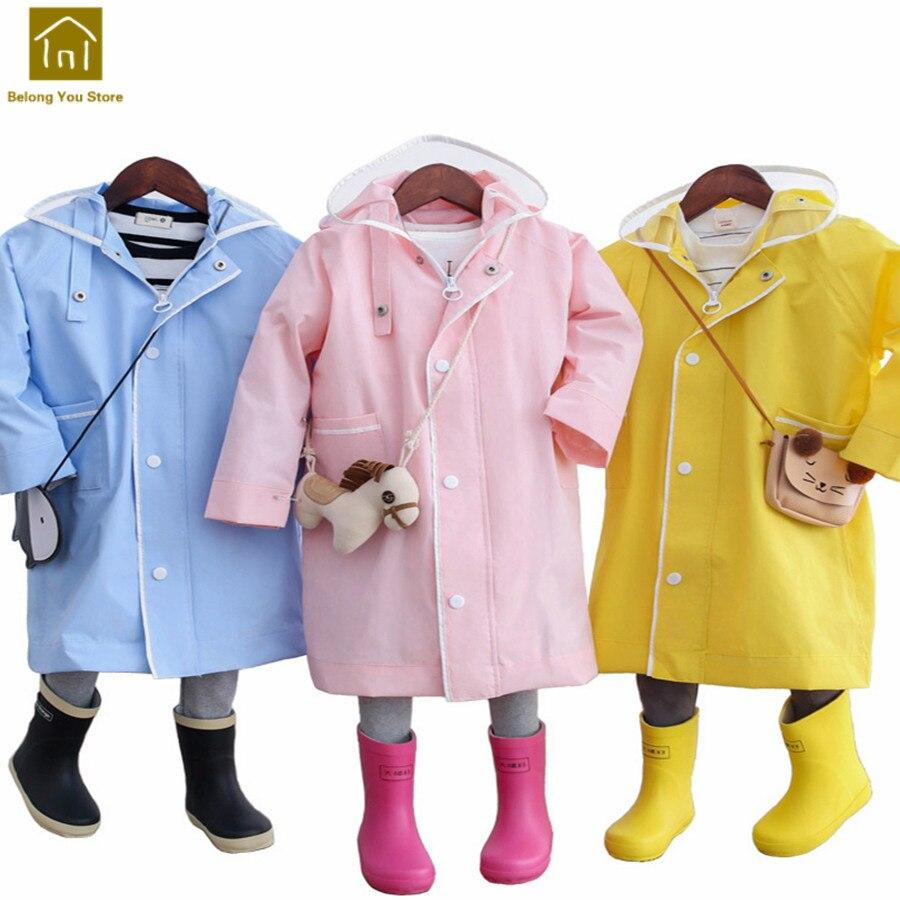 Enfants imperméable enfants vêtements de pluie Poncho imperméable respirant filles enfants imperméable bébé Casacos Camping pluie Cape enfants LKR177