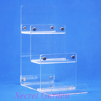 2 High Quality Clear View Acrylic Wallet Display Stand Card Holder 3 Tiers