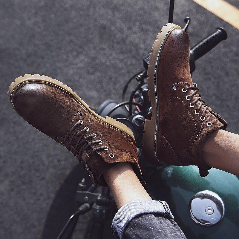 2020 г., лидер продаж, зимние ботинки martin шерстяные вязаные кожаные мотоботы в стиле пэчворк дизайнерская обувь женские ботинки на платформе - 6