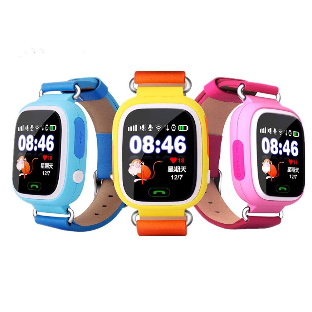 Dispositivo Localizador GPS relógio inteligente bebê q90 Chamada SOS Rastreador relógio Tela de Toque do telefone Inteligente Relógios para crianças pk q50 q60 q80