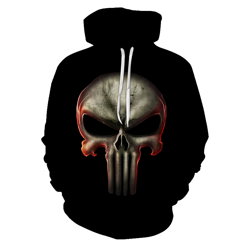 Punisher Hoodies Women Men 3D Sweatshirts Superhero Pullover 2018 Autumn Tracksuit Fashion Hooded Streetwear Casual Hoodie