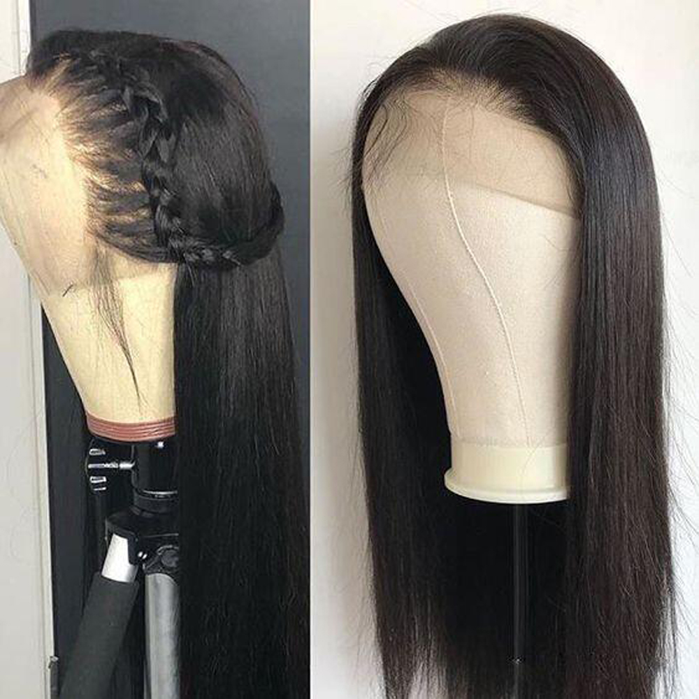 Sapphire Lace Front Human Hair Wigs For Women Black Pre Plucked Brazilian Straight Lace Front Wig