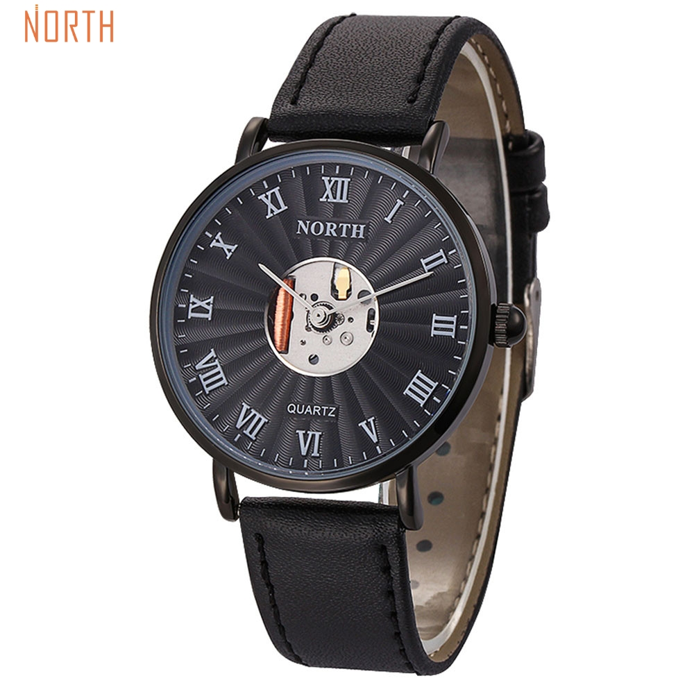 Splendid 2016 NORTH Watches Men Watch Top Brand Luxury Famous Roman Number Male Clock Quartz Wrist Watch Fashion Quartz-Watch splendid brand new boys girls students time clock electronic digital lcd wrist sport watch