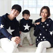 2018 autumn family matching clothes hoodies sweatshirts mother father baby mother son outfits mommy and me clothes plus size