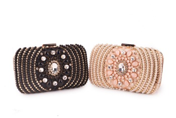 XIYUAN black/pink Rhinestones wallet Women Clutch Bags Diamonds Ladies Vintage Evening Bag Crystal Wedding Bridal Handbags Purse