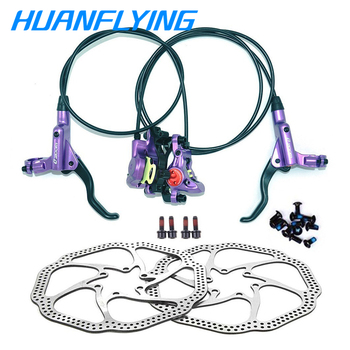цена на Zoom Brake Hb-875 MTB Bike Hydraulic Disc Brake Set HS1 Clamp  Brake Pull Line Oil Dish 800/1400mm hydraulic disc brake groupset
