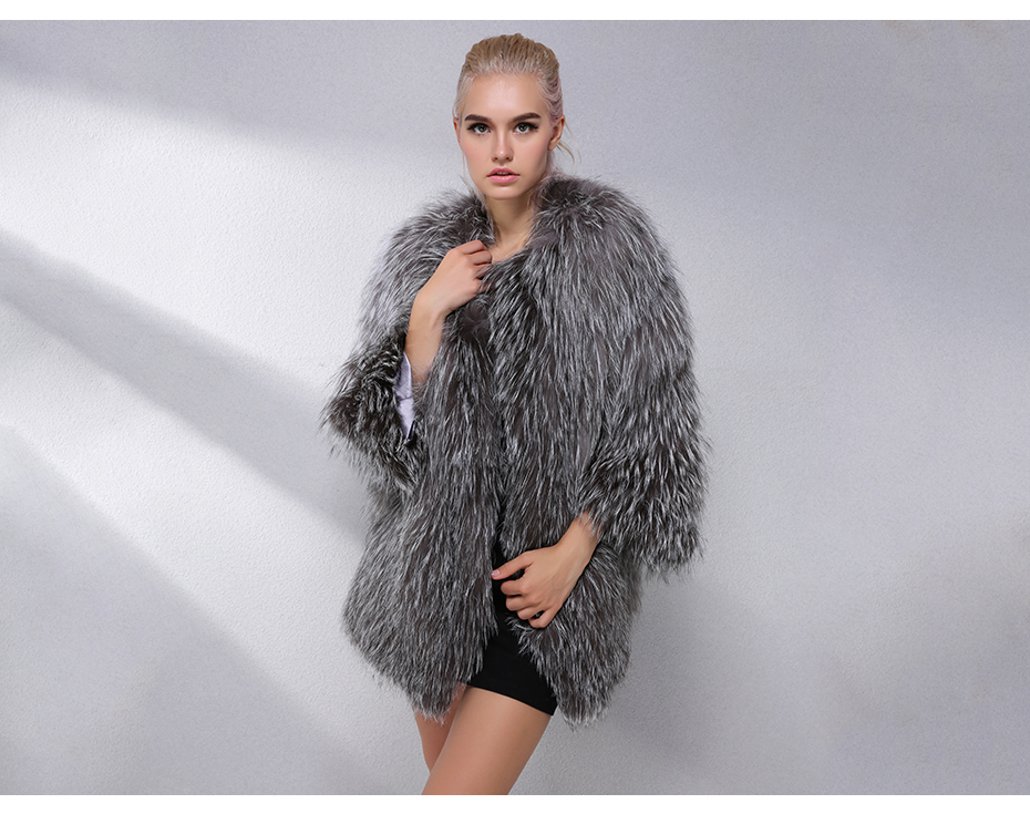 Hot Women Ladies First-Class Rabbit Fur Warm Coat Outwear Jacket Garment