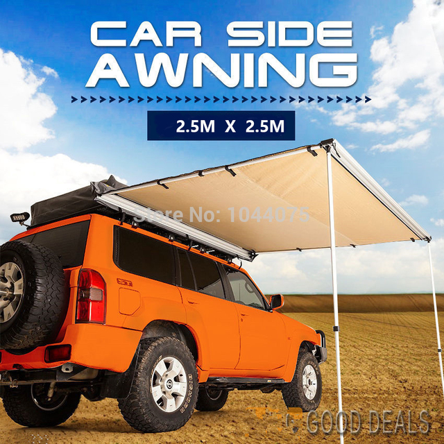 DANCHEL 25X2M 4WD Roof Tent Awning Car Up Sun Shade Side