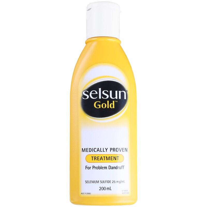 Selsun Gold Dandruff Medicated Shampoo Treatment Anti Dandruff Seborrheic dermatitis Shampoo Relieve Flaking Itching Cools Scalp 4