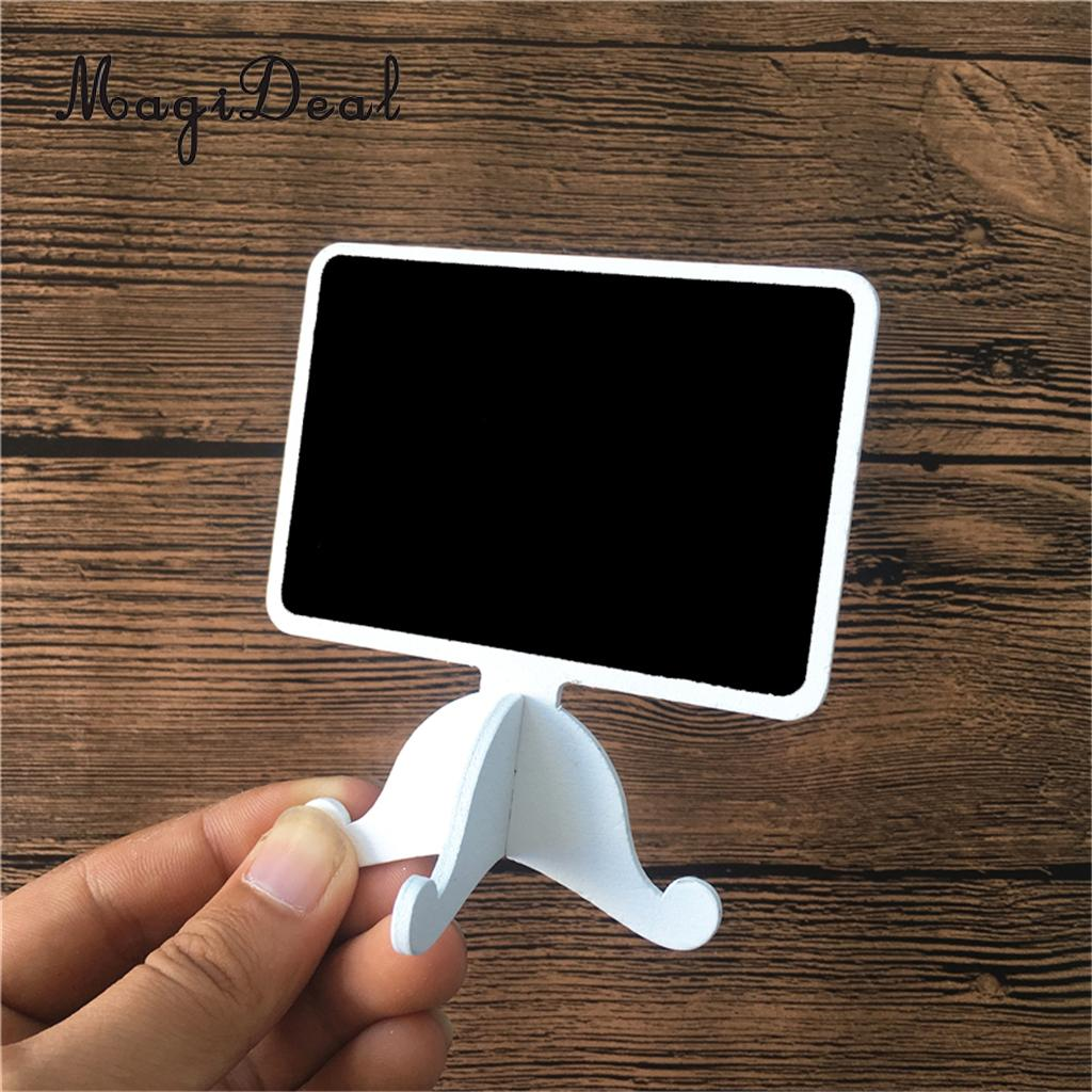 10pcs Mini Lace Blackboard Chalkboard Wooden Blackboard Price Stand Number Sign For New Year Party Christmas Wedding Decoration