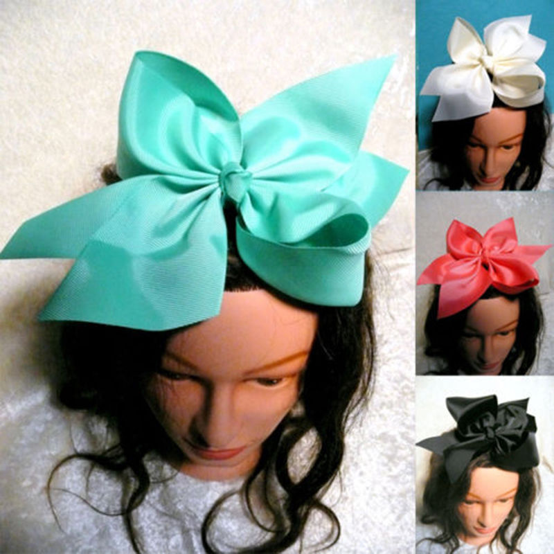 1PC 10 Inch Large Grosgrain Ribbon Bow Barrettes Girls Boutique Hairpins Big Bowknot Clips Flokët Fëmijët Fëmijët Aksesorë për Flokët