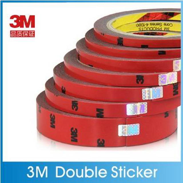 5pcs/lot 3M Double faced Acrylic Foam Adhesive 3 meters Long Tape 6/10/20mm...