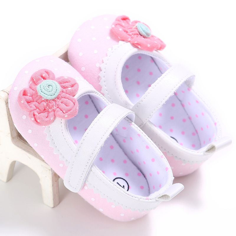 Baby Kids Boys Shoes Polka Dots Newborn Baby Girl Shoes Prewalker First Walkers Kids Girls Soft Sole Shoes Lovely Sneakers First Walkers Mother & Kids